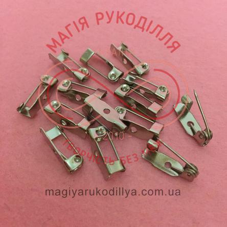 Основа для брожки булавка 1,3см з шпилькою - сріблястий