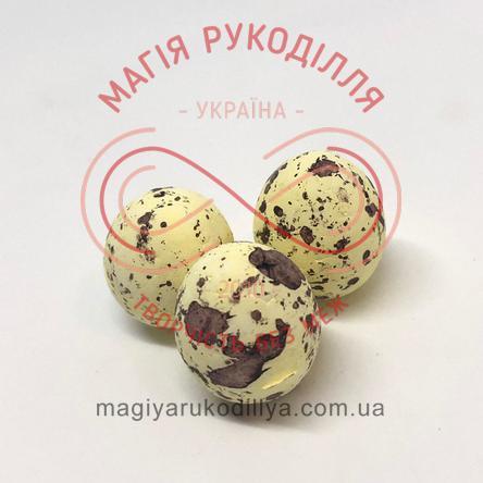 Фігура з пінопласту яйце перепелине h2см - жовтий в цяточку