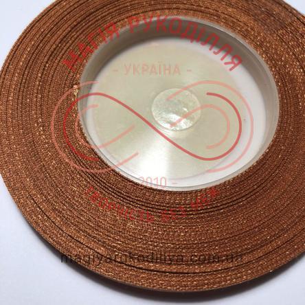 Стрічка атласна 6мм/32,9(Китай) - відтінки коричневого