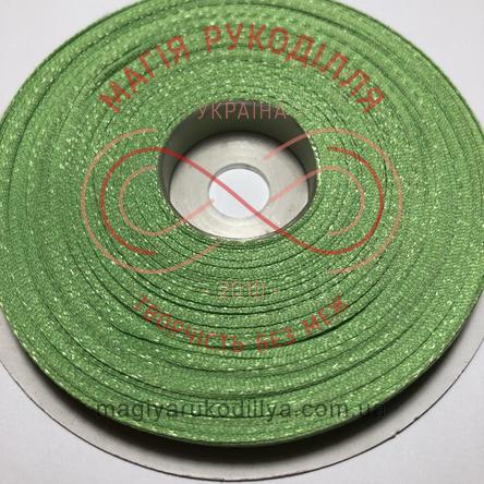 Стрічка атласна 6мм/32,9м (Китай) - відтінки зеленого
