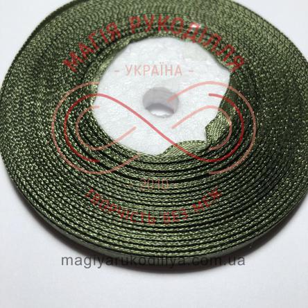 Стрічка атласна 6мм/32,9 (Китай) - відтінки зеленого