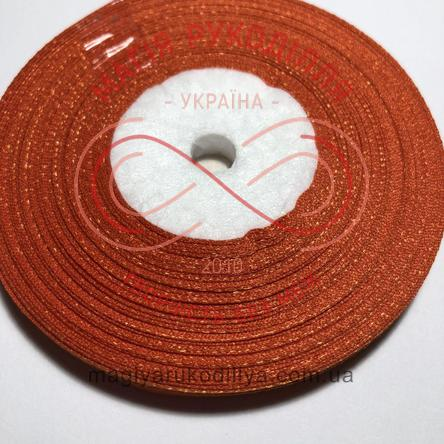 Стрічка атласна 6мм/32,9 (Китай) - відтінки помаранчевого
