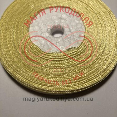 Стрічка атласна 6мм/32,9м (Китай) - відтінки жовтого