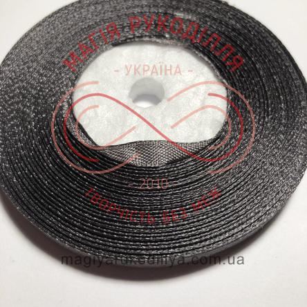 Стрічка атласна 6мм/32.9 (Китай) - відтінки сірого