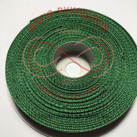 Стрічка атласна 12мм/32,9м (Китай) - відтінки зеленого