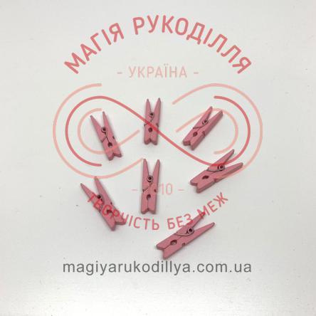 Прищіпка дерев'яна 3см - світло рожевий