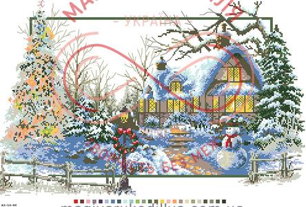 Схема на канві для вишивання хрестиком картина - А3-14-86
