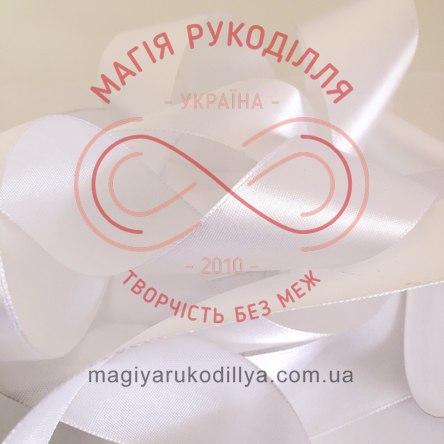 Стрічка Peri атласна 26мм (Китай) - білий