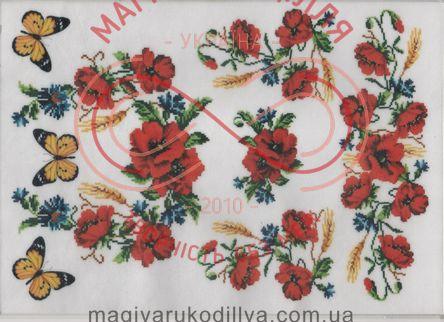 Кондитерська вафельна картинка рисовий папір 30*21 - Маки