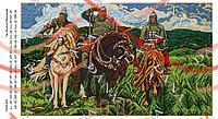 Схема для вишивання бісером картина габардин панно - DANA-559 Три богатирі (Васнецов)