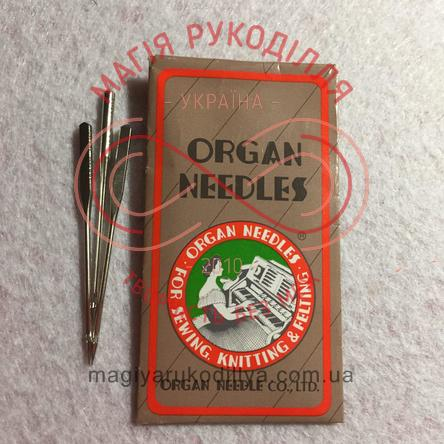Голки Organ для швейних машин - універсальні - 110/18 (НА*1, 130/705Н) набір 10шт, папір