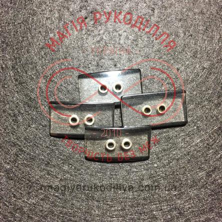 Пуговицу костюмный прошивной d44L / 28,5мм - прозрачно-черный