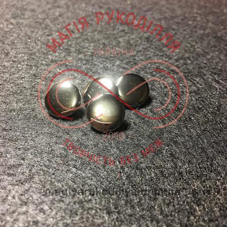Гудзик сорочковий на ніжці d18L/11,6мм - темне срібло