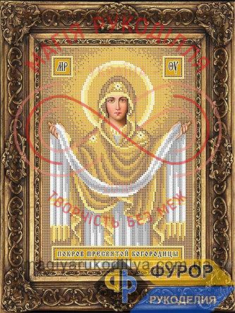 Схема для вишивання бісером ікона - ИБ4-031-2 Покрова Пресвятої Богородиці