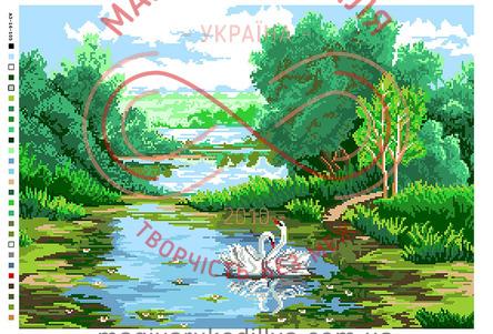 Схема на канві для вишивання хрестиком картина - А3-16-105