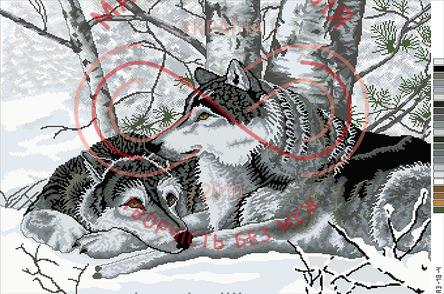 Схема на канві для вишивання хрестиком картина - А3-18-04
