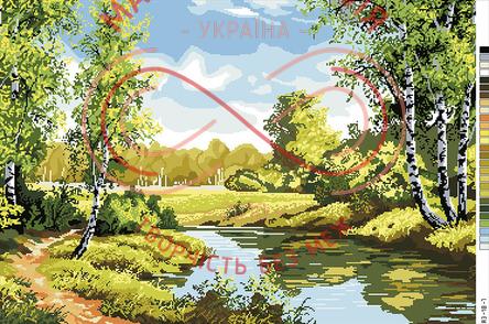 Схема на канві для вишивання хрестиком картина - А3-18-07