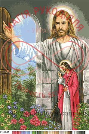 Схема на канві для вишивання хрестиком картина - А3-18-23