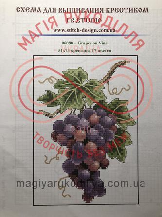 Cхема паперова для вишивання хрестиком - 06888 Grapes on Vine