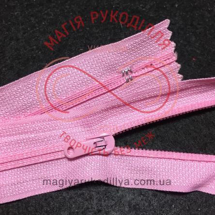 Блискавка напівпотаємна нероз'ємна (Китай KLmun) 18см (тип 5) - відтінки рожевого