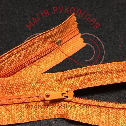 Блискавка напівпотаємна нероз'ємна (Китай KLmun) 18см (тип 5) - відтінки помаранчевого