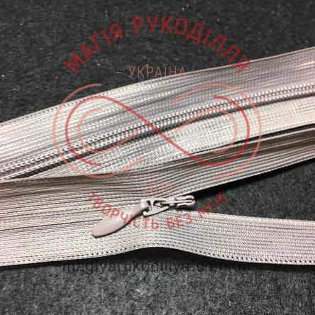 Блискавка потаємна (Китай) 50см (тип 5) - відтінки сірого