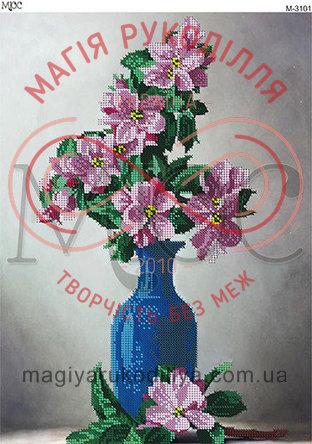 Схема для вишивання бісером картина габардин А3 - МЮС М-3101 Яблуневий цвіт