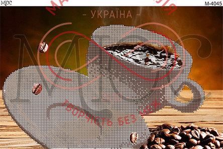 Схема для вишивання бісером картина габардин А4 - МЮС М-4045 Кава