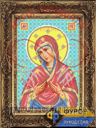 Схема для вишивання бісером ікона - ИБ4-120-1 Пресвята Богородиця Семистрільна