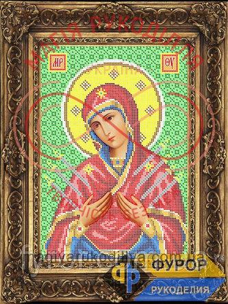 Схема для вишивання бісером ікона - ИБ4-120-2 Пресвята Богородиця Семистрільна