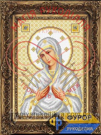 Схема для вишивання бісером ікона - ИБ4-120-3 Пресвята Богородиця Семистрільна