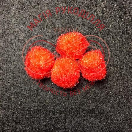 Помпон декоративний d13мм - червоний