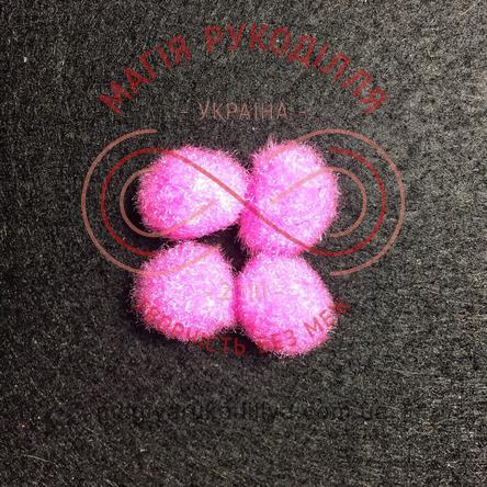 Помпон декоративний d13мм - яскравий рожевий