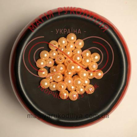 Намистинки вагові d6мм - абрикосовий перлистий