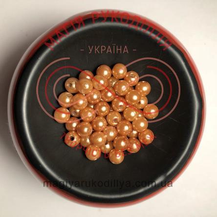 Намистинки вагові d6мм - кавовий перлистий