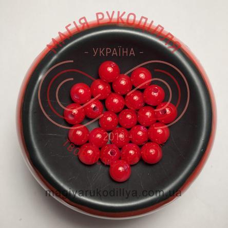 Намистинки вагові d8мм - червоний перлистий