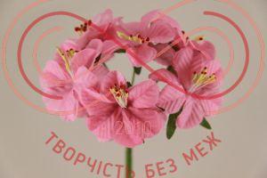 Бутон'єрка жасмін тканинна на ніжці d4смh10см(гілочка) - рожевий