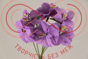Бутон'єрка жасмін тканинна на ніжці d4смh10см(гілочка) - фіолетовий