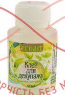 Клей для декупажу Ecoart полівінілацетатний 50мл(Україна)