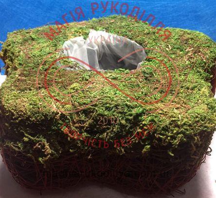 Декоративна основа для вази з моху 21см*19см - зелений