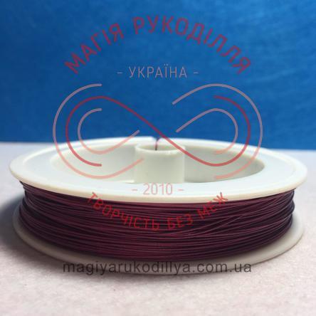 Біжутерна металізована нитка d0,45мм/100м - рожевий