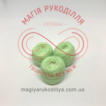 Нитка акрилова для вишивання - №032 відтінки зеленого