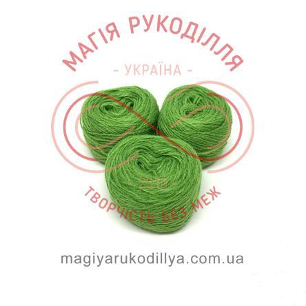 Нить акриловая для вышивания - №039 / 533 оттенки зеленого