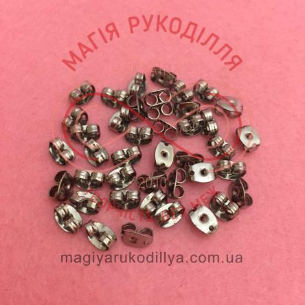 Фіксатор для швензи сталь 0,6см*0,3см*d0,1см - темний сріблястий