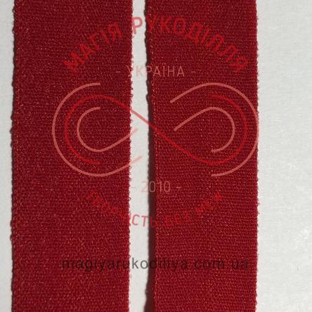 Бейка, пополамка, обробна тесьма ширина 15мм - 15W626 червоний