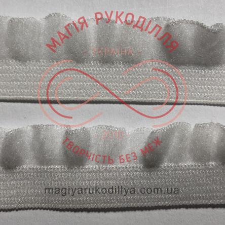 Обробна декоративна резинка ширина 14мм - 14K1224 білий