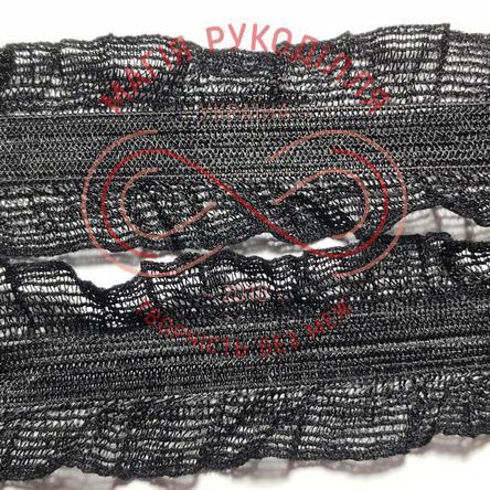 Декоративна окантовочна мереживна резинка ширина 26мм - 26К1290 чорний