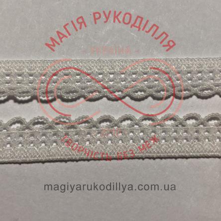 Обробна декоративна резинка в трусики ширина 6мм - 06K1157 білий