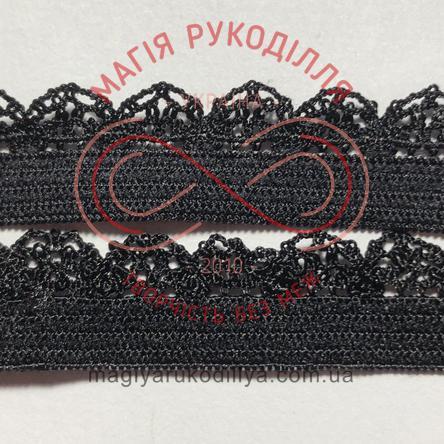 Обробна резинка ширина 12мм - 12К1289 чорний
