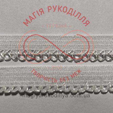 Обробна резинка ширина 8мм - 08К11578 білий